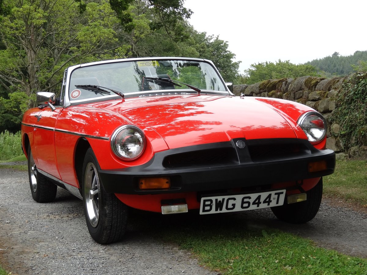 1979 MGB Roadster in beautiful condition. Low mile SOLD (picture 2 of 6)