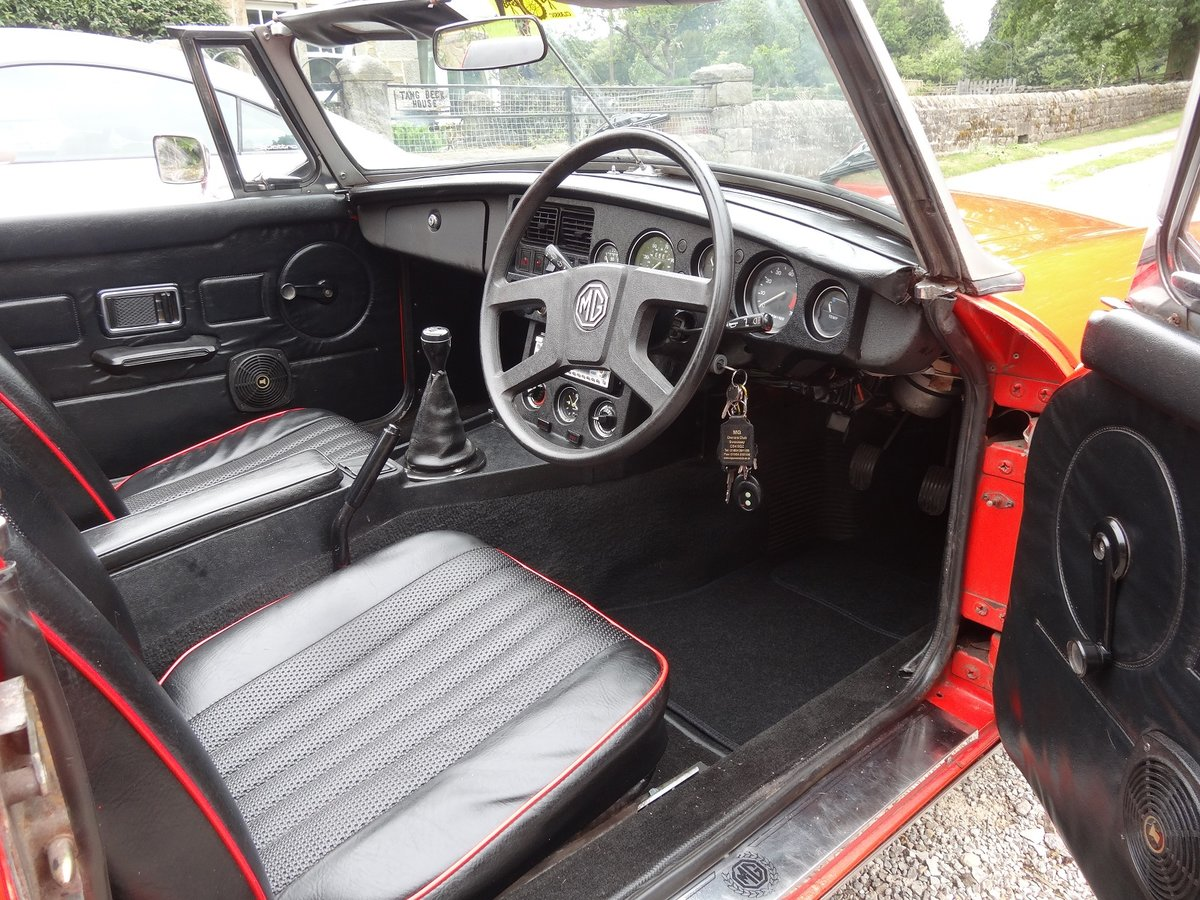 1979 MGB Roadster in beautiful condition. Low mile SOLD (picture 5 of 6)
