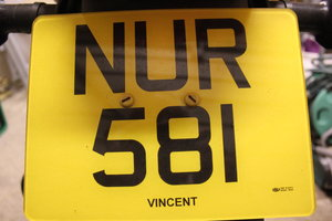 NURSE 1 Number Plate For Sale
