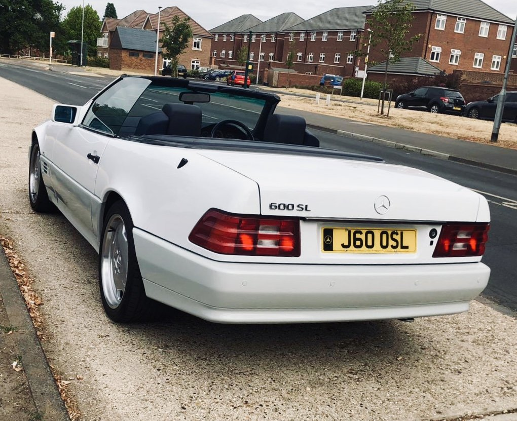 1992 Mercedes SL 500 Lovely White Convertible For Sale (picture 3 of 6)
