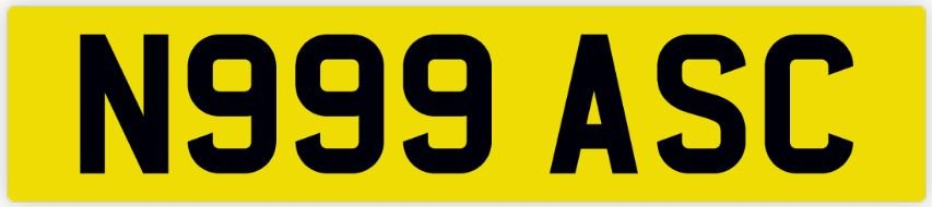 Private Number Plate N999 ASC For Sale (picture 2 of 2)