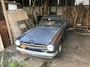 1974 Triumph TR6 LHD for restoration - complete car
