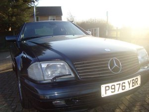 1997 Mercedes sl500 5 sp auto black with black leather
