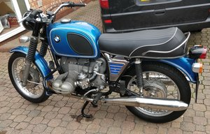 1972 BMW R75/5. 11,700 miles, 4 owners. Superb