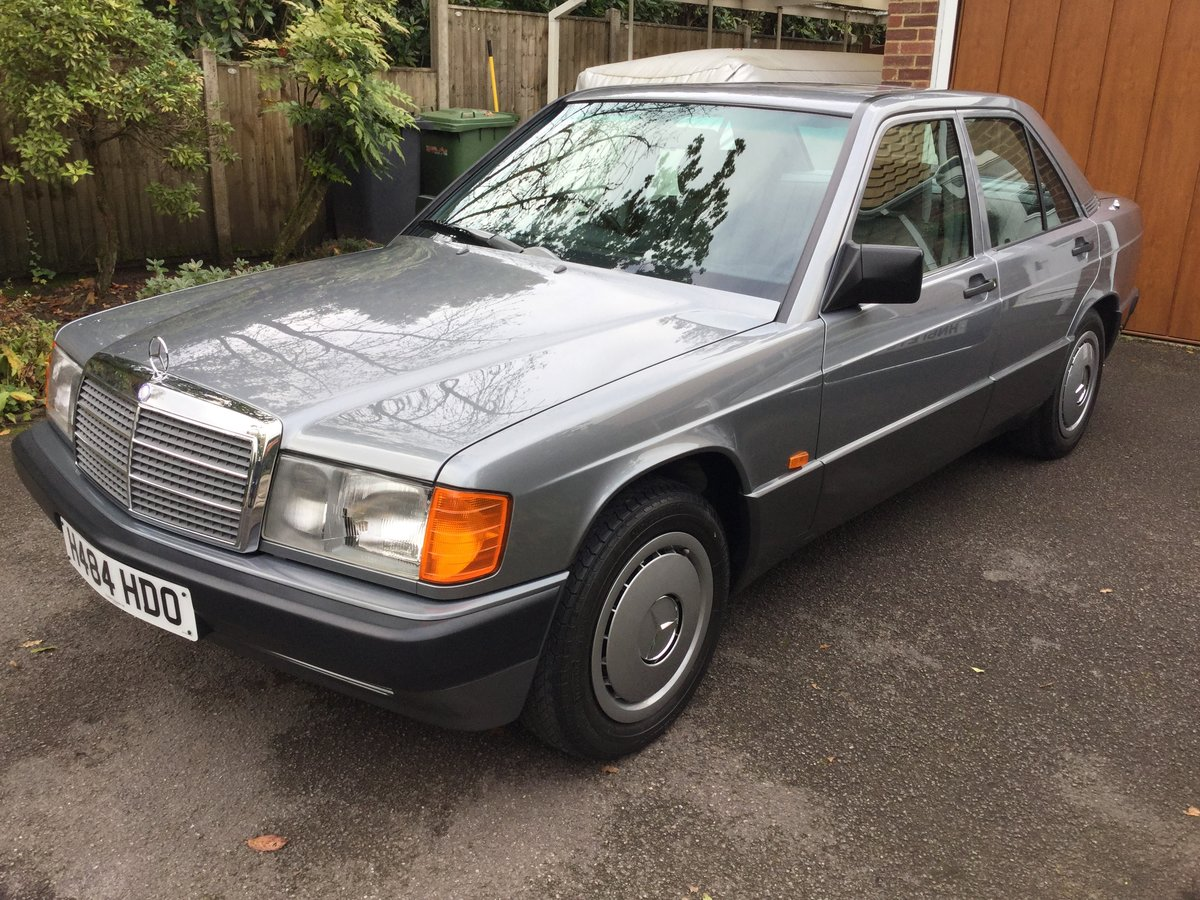 1990 Mercedes 190E Auto 1.8 13,538 miles,. Outstanding  For Sale (picture 1 of 6)