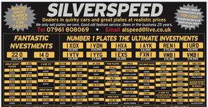1900 Amazing selection of number plates at great prices.