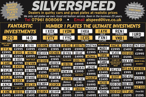 Amazing selection of number plates at great prices too