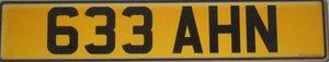 633 AHN number plate