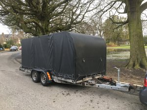 Car Transporter tilt bed covered trailer