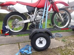 Motolug Folding motorbike trailer