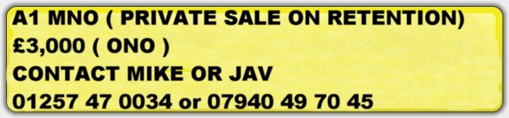 0000 Private Number Plate Registration A1M NO  For Sale