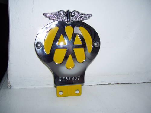 Vintage Aa Badge Automotive Club Badges