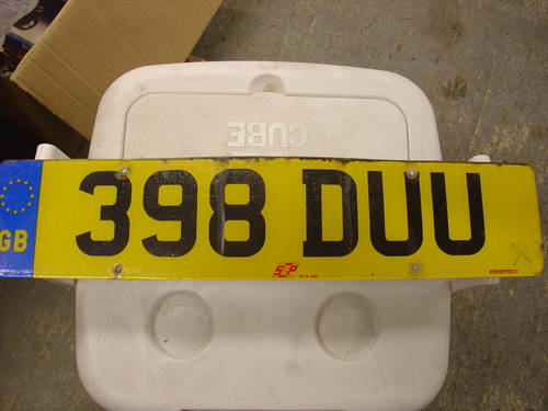 398 DUU Cherished Registration DW  For Sale (picture 1 of 1)