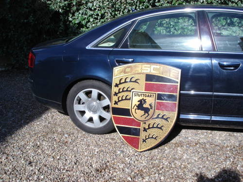 Reproduction Porsche garage wall sign 92cmx70cm For Sale (picture 1 of 3)