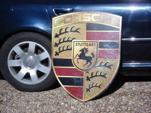 Reproduction Porsche garage wall sign 92cmx70cm For Sale (picture 2 of 3)
