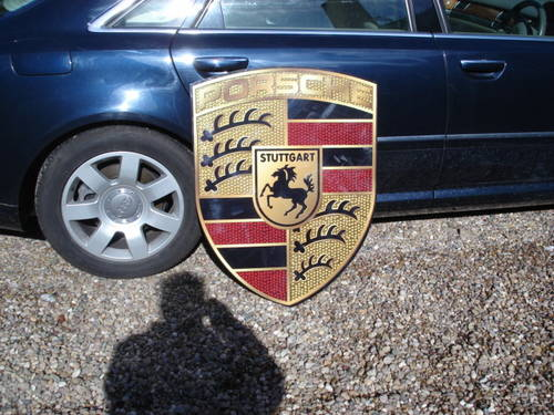 Reproduction Porsche garage wall sign 92cmx70cm For Sale (picture 3 of 3)