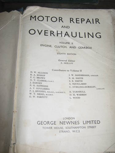 1920 vintage motor repair  books For Sale (picture 1 of 5)