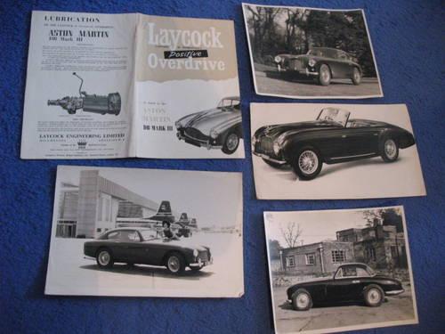 Original Aston-Martin Lit. For Sale (picture 1 of 5)