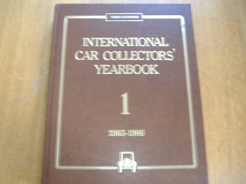 INTERNATIONAL CAR COLLECTORS YEARBOOK 1985. No 1 For Sale (picture 1 of 1)