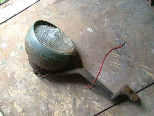 MARCHAL: 1930s SPOT LAMP & BRACKET For Sale (picture 1 of 1)