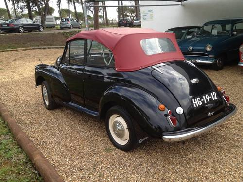 1954 Morris Minor Black Cabrio For Sale (picture 5 of 6)
