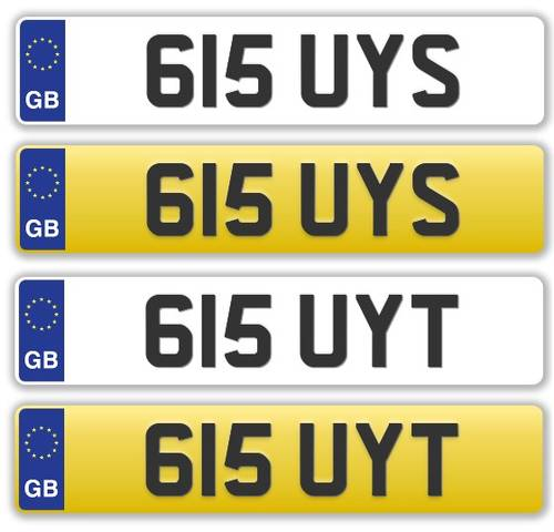 NICE PAIR OF DATELESS REG NUMBERS - 615 UYS & 615 UYT For Sale (picture 1 of 1)
