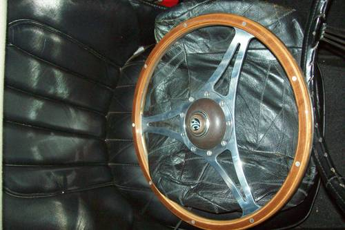 Picture of 1950 AC 15 inch woodrim wheel and horn push For Sale
