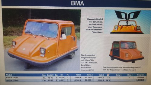 1978 BMA Amica Spider, microcar For Sale (picture 6 of 6)