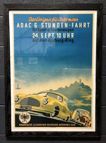 A 1950 A.D.A.C. – 6 Stunden Fahrt Nürburg-Ring race poster For Sale (picture 2 of 2)