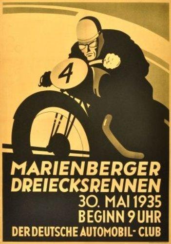 A 1935 German 'Marienberger Dreieksrennen' race poster For Sale (picture 1 of 2)