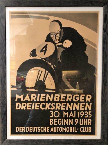 A 1935 German 'Marienberger Dreieksrennen' race poster For Sale (picture 2 of 2)