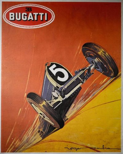 1979 Bugatti Type 35 race poster For Sale (picture 1 of 1)