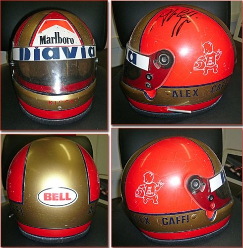 1985 Alex Caffi F3 Helmet Signed For Sale (picture 1 of 2)