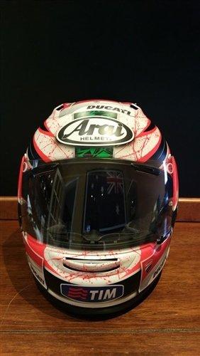 2012 Niki Hayden raced helmet For Sale (picture 2 of 6)