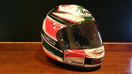 2012 Niki Hayden raced helmet For Sale (picture 3 of 6)