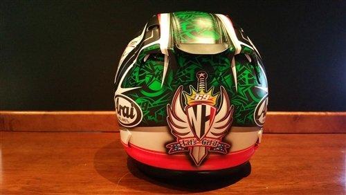 2012 Niki Hayden raced helmet For Sale (picture 5 of 6)
