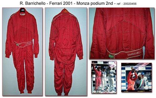2001 Rubens Barrichello Ferrari Racing suit For Sale (picture 1 of 1)