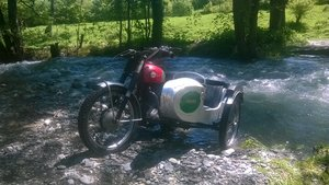 1956 Ariel HS HT 500 with Watsonian Competition sidecar For Sale