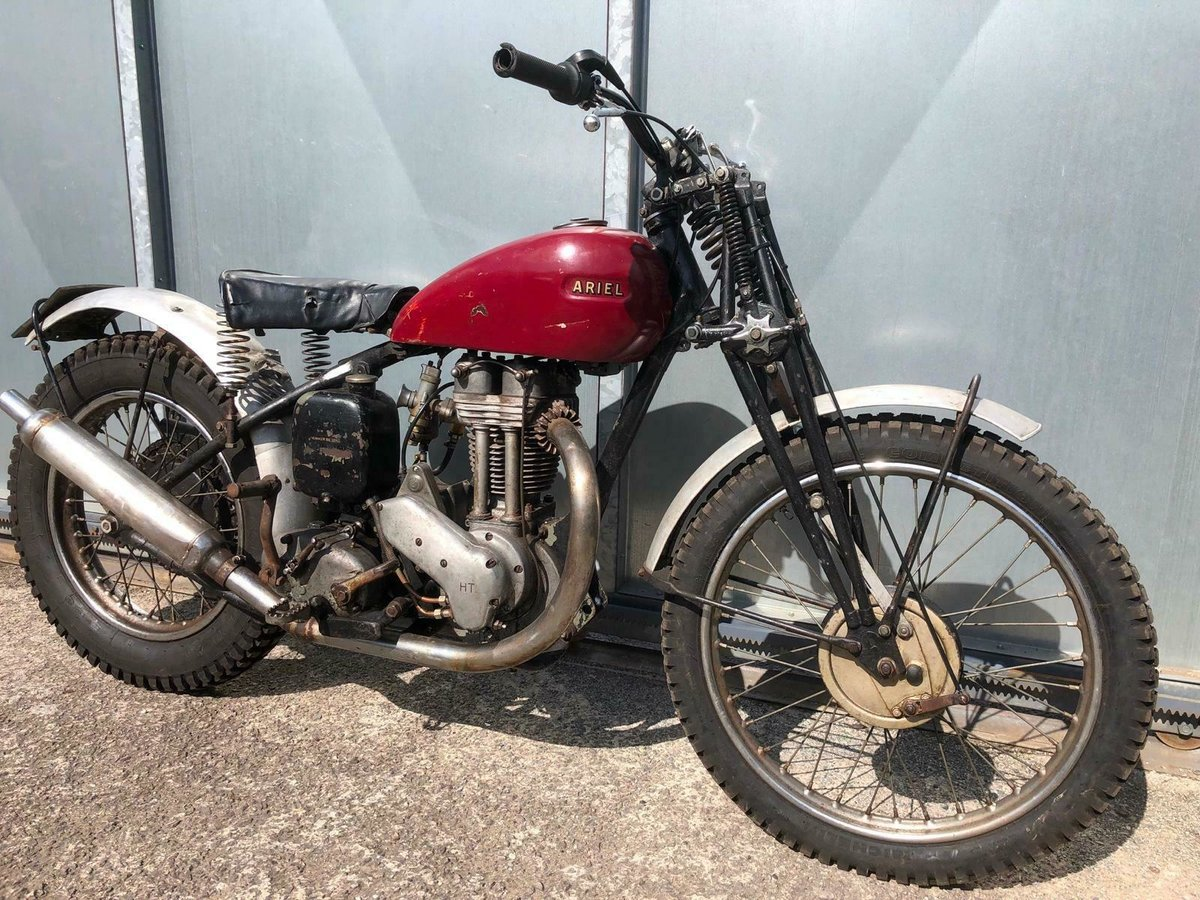 1950 ARIEL RIGID GIRDER FORK TRIALS OOZING WITH PATINA RUNS MINT For Sale (picture 1 of 5)