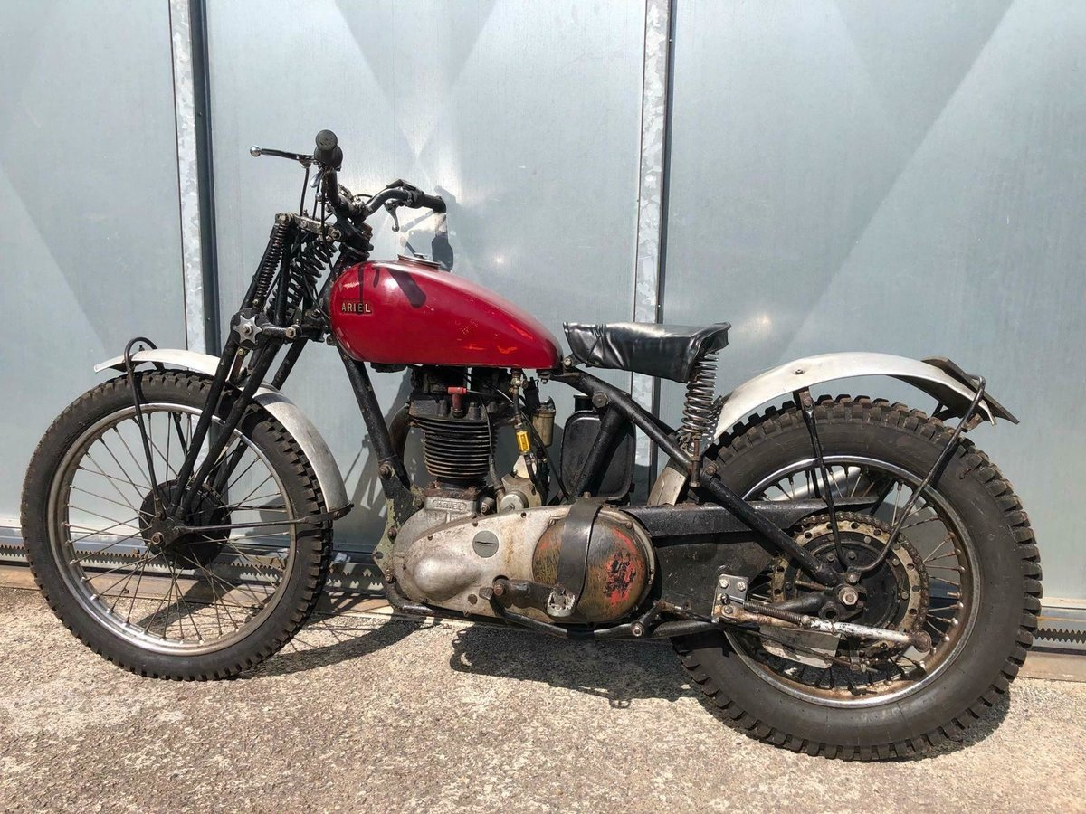 1950 ARIEL RIGID GIRDER FORK TRIALS OOZING WITH PATINA RUNS MINT For Sale (picture 2 of 5)