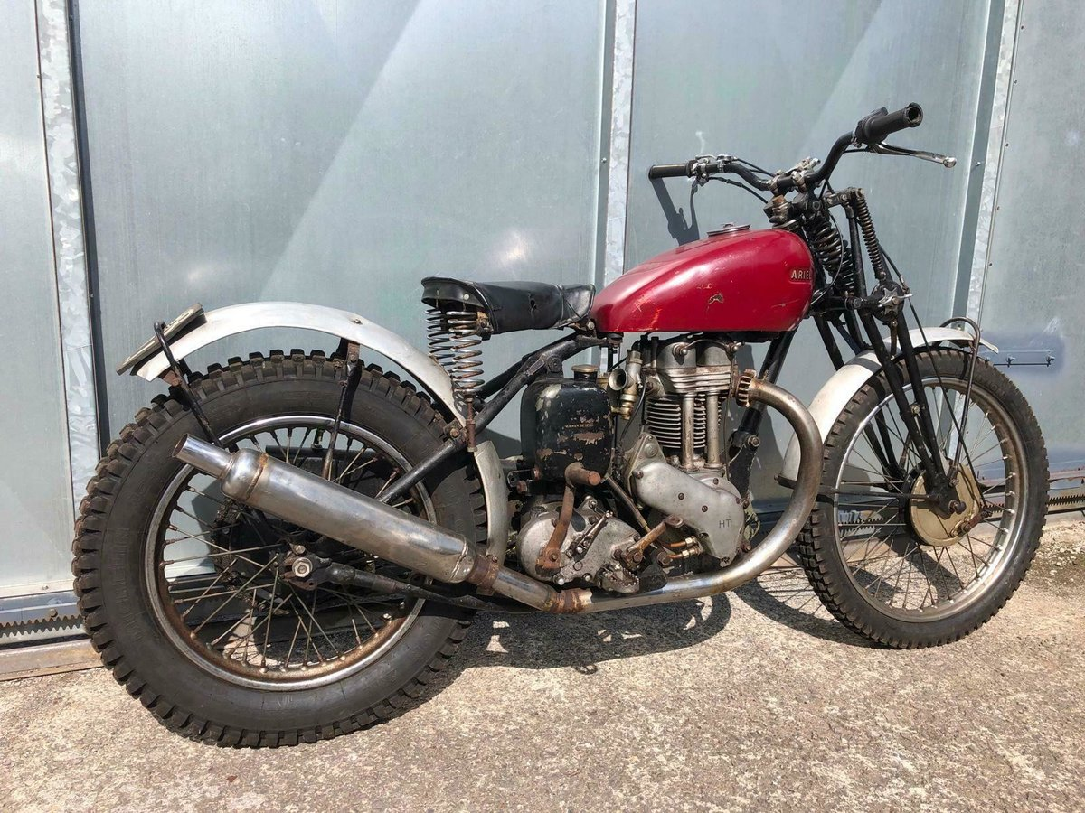 1950 ARIEL RIGID GIRDER FORK TRIALS OOZING WITH PATINA RUNS MINT For Sale (picture 3 of 5)