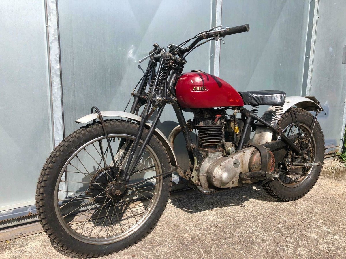 1950 ARIEL RIGID GIRDER FORK TRIALS OOZING WITH PATINA RUNS MINT For Sale (picture 4 of 5)