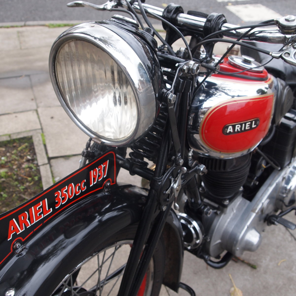 1937 Rare NH 1 350cc Red Hunter, With Girder Forks. SOLD (picture 4 of 6)