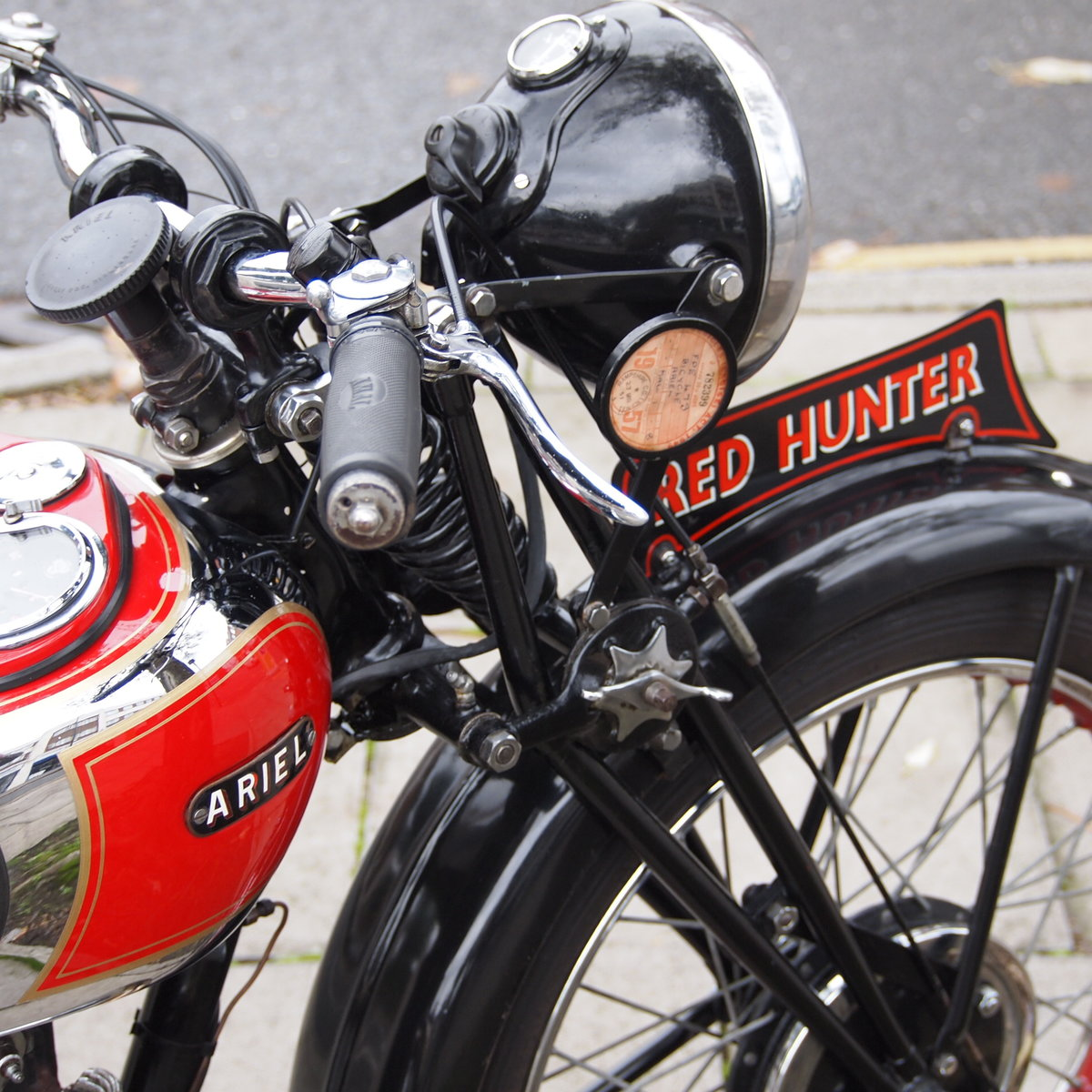 1937 Rare NH 1 350cc Red Hunter, With Girder Forks. SOLD (picture 5 of 6)