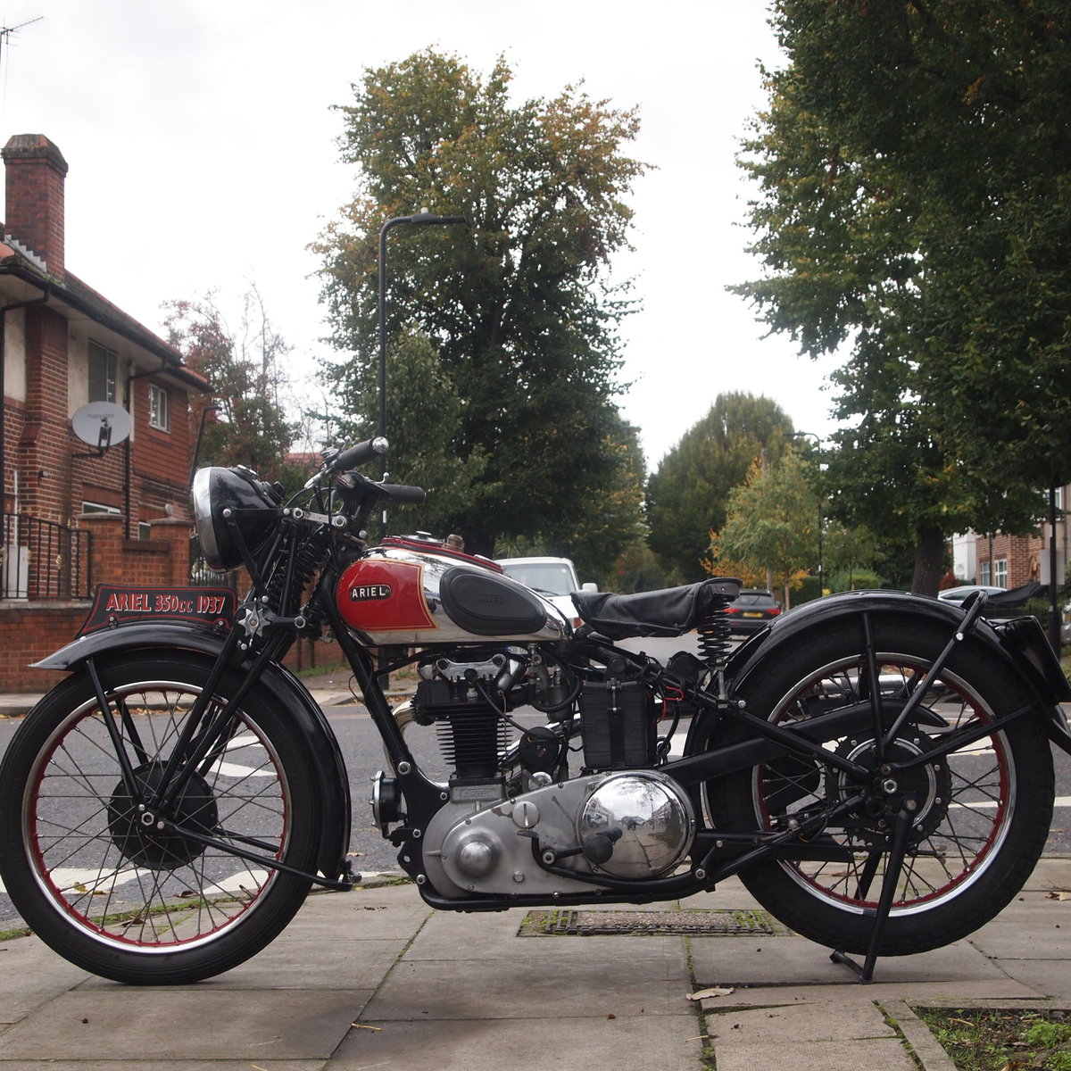 1937 Rare NH 1 350cc Red Hunter, With Girder Forks. SOLD (picture 6 of 6)