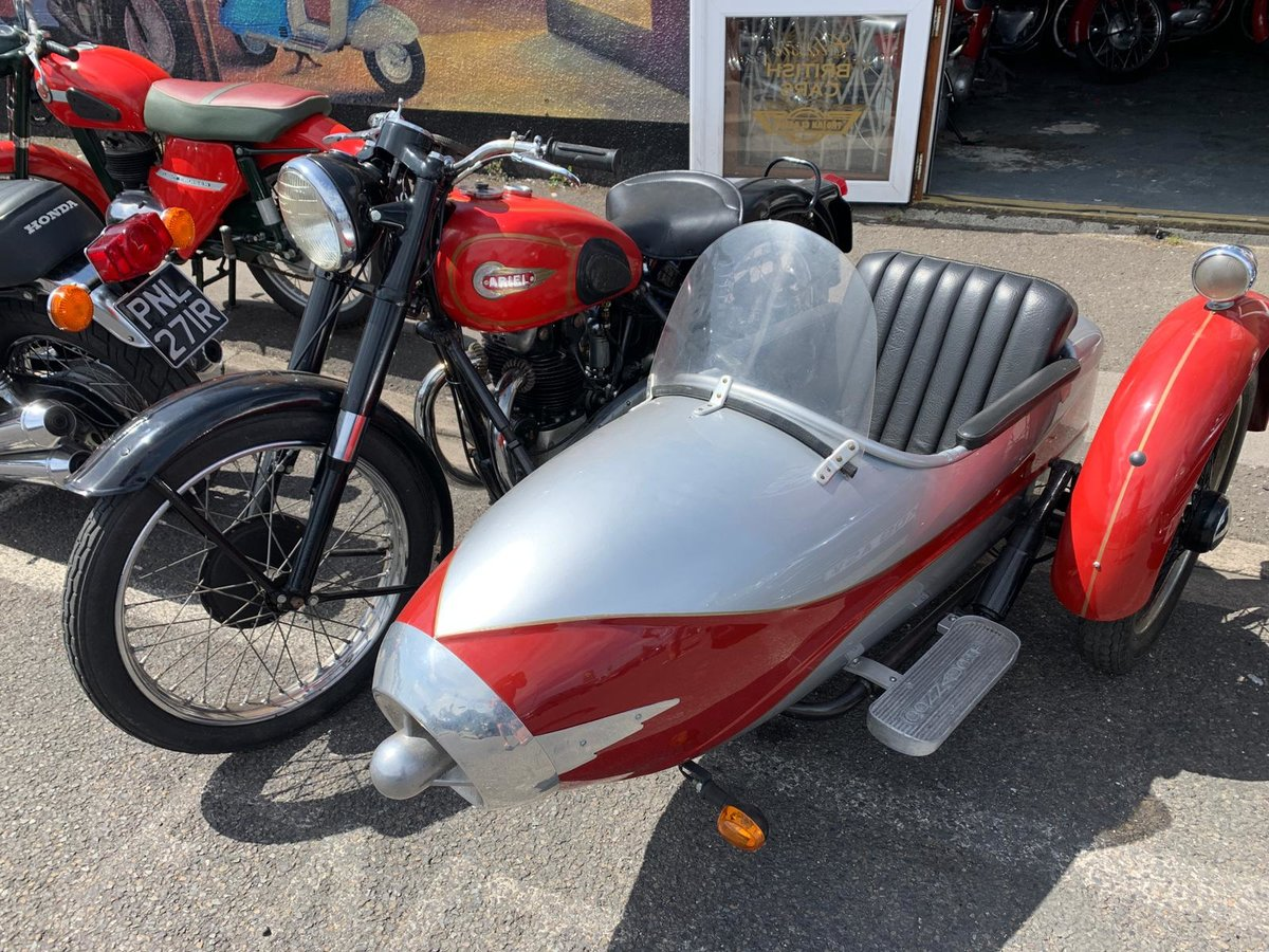 1954 UNIQUE CLASSIC ARIAL WITH SIDECAR For Sale (picture 1 of 6)
