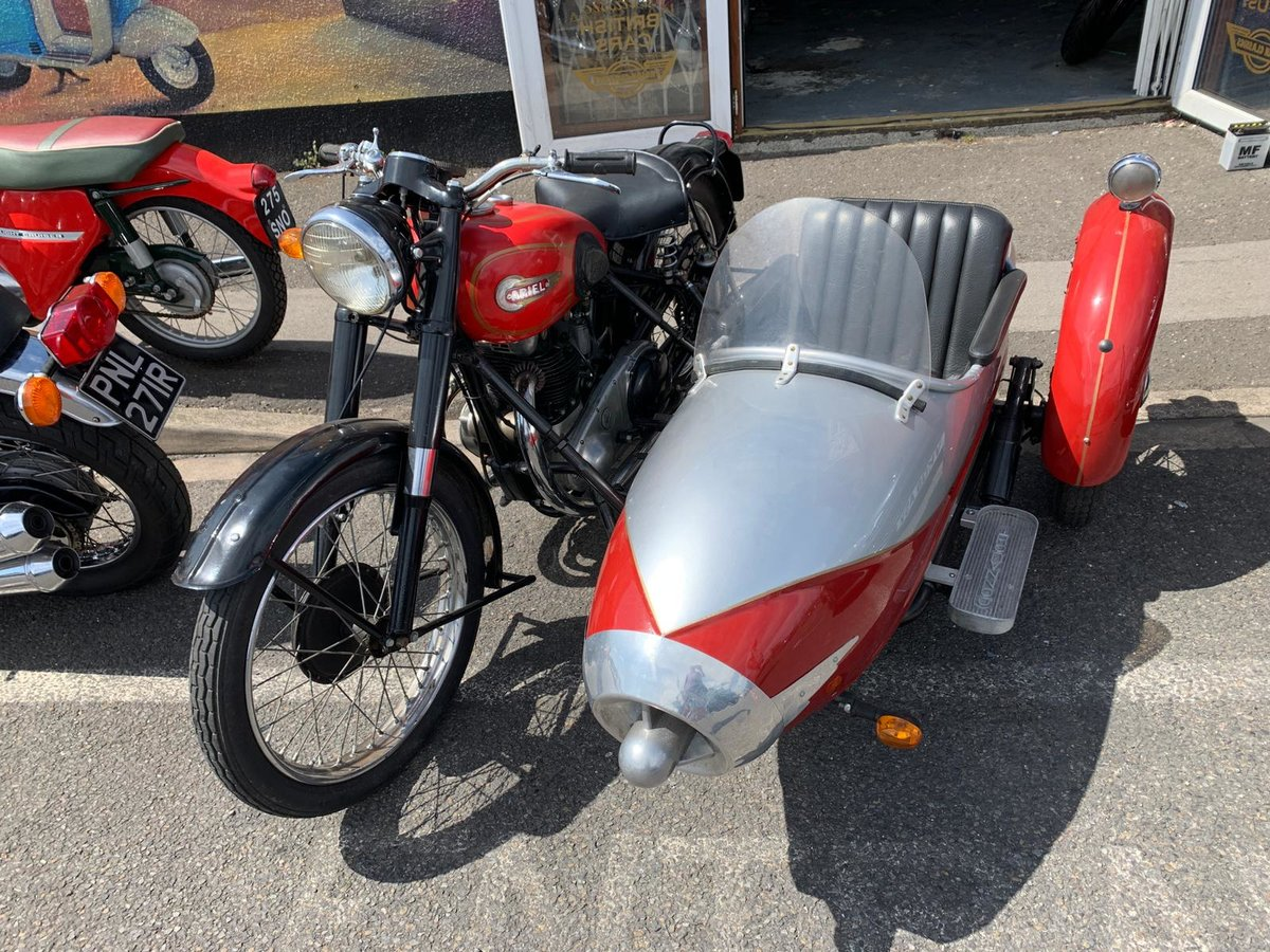 1954 UNIQUE CLASSIC ARIAL WITH SIDECAR For Sale (picture 3 of 6)
