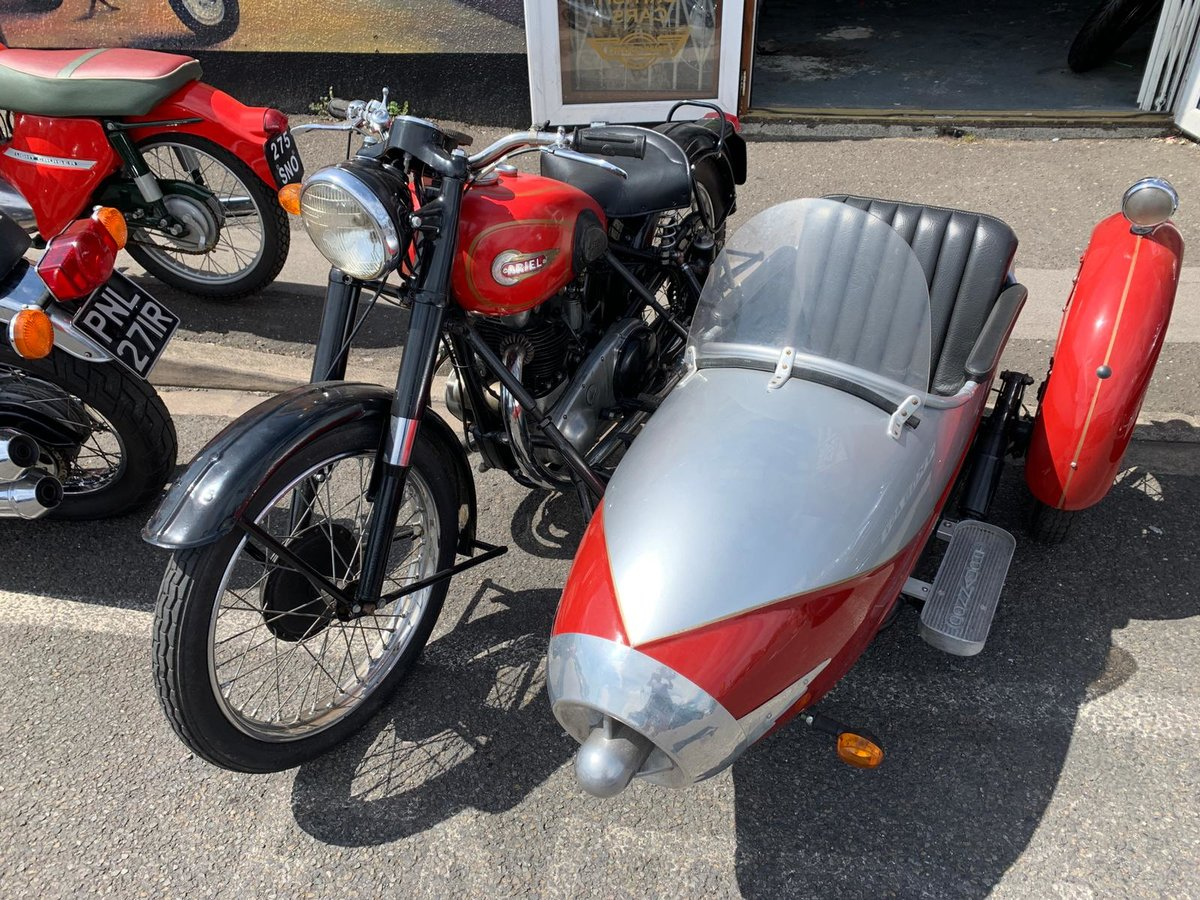 1954 UNIQUE CLASSIC ARIAL WITH SIDECAR For Sale (picture 5 of 6)