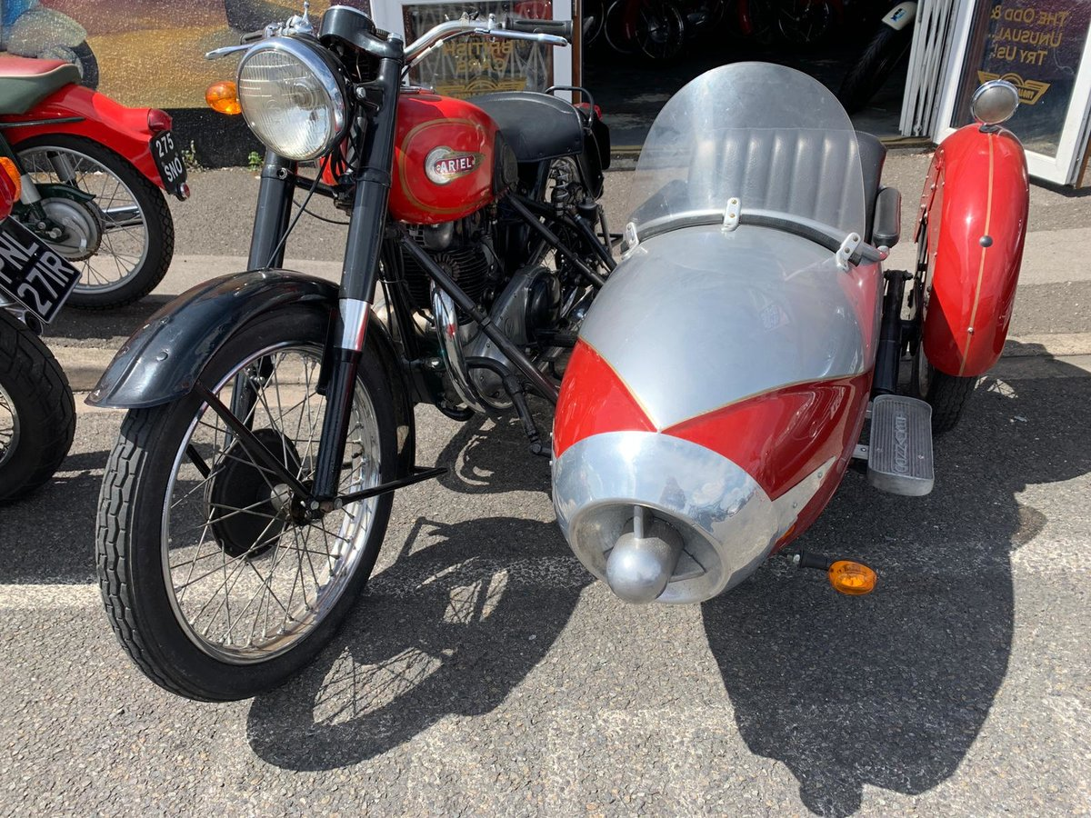 1954 UNIQUE CLASSIC ARIAL WITH SIDECAR For Sale (picture 6 of 6)