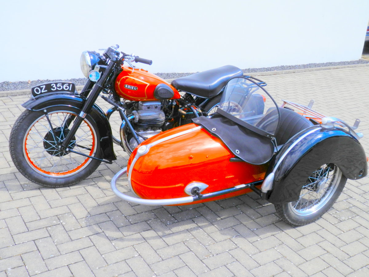 1950 Ariel Square Four 4 Mark 1 with Steib s 250 sidecar For Sale (picture 1 of 6)